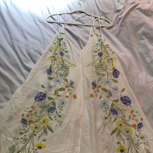 Free People Intimately Cream Floral Maxi Dress